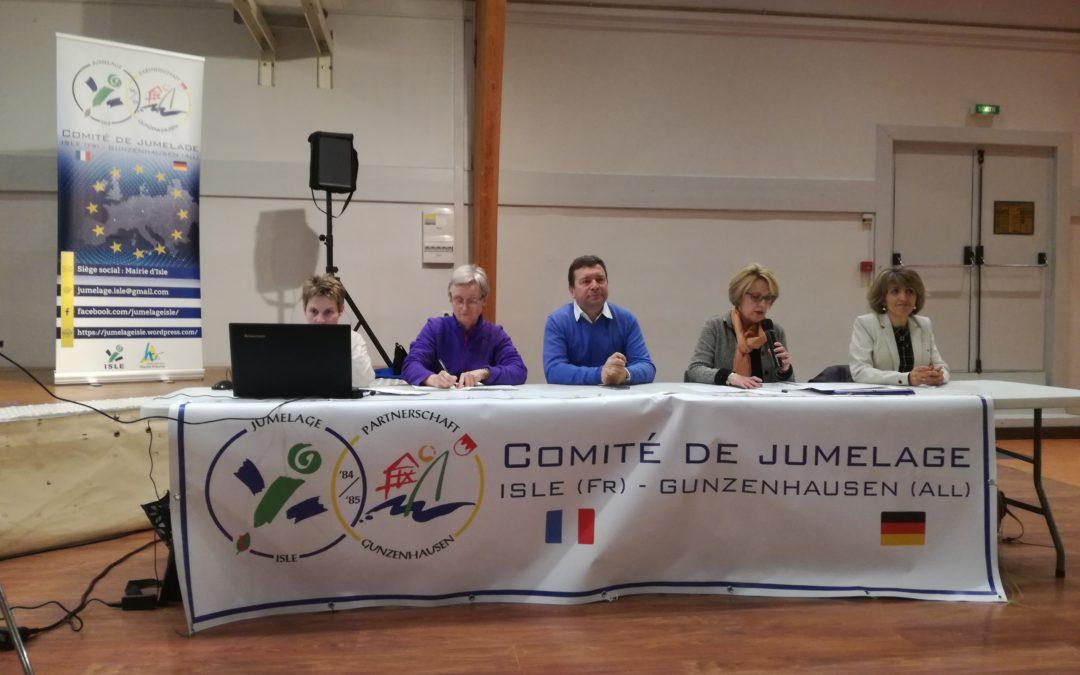 L'ACJL à l'assemblée générale du comité de jumelage d'Isle (87)