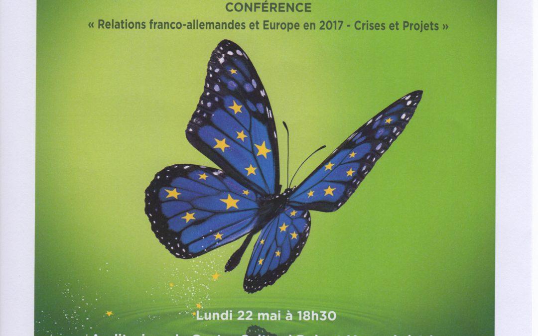 Conférence « Relations franco-allemandes et Europe en 2017. Crises et projets » à Isle le 22 mai à 18h30