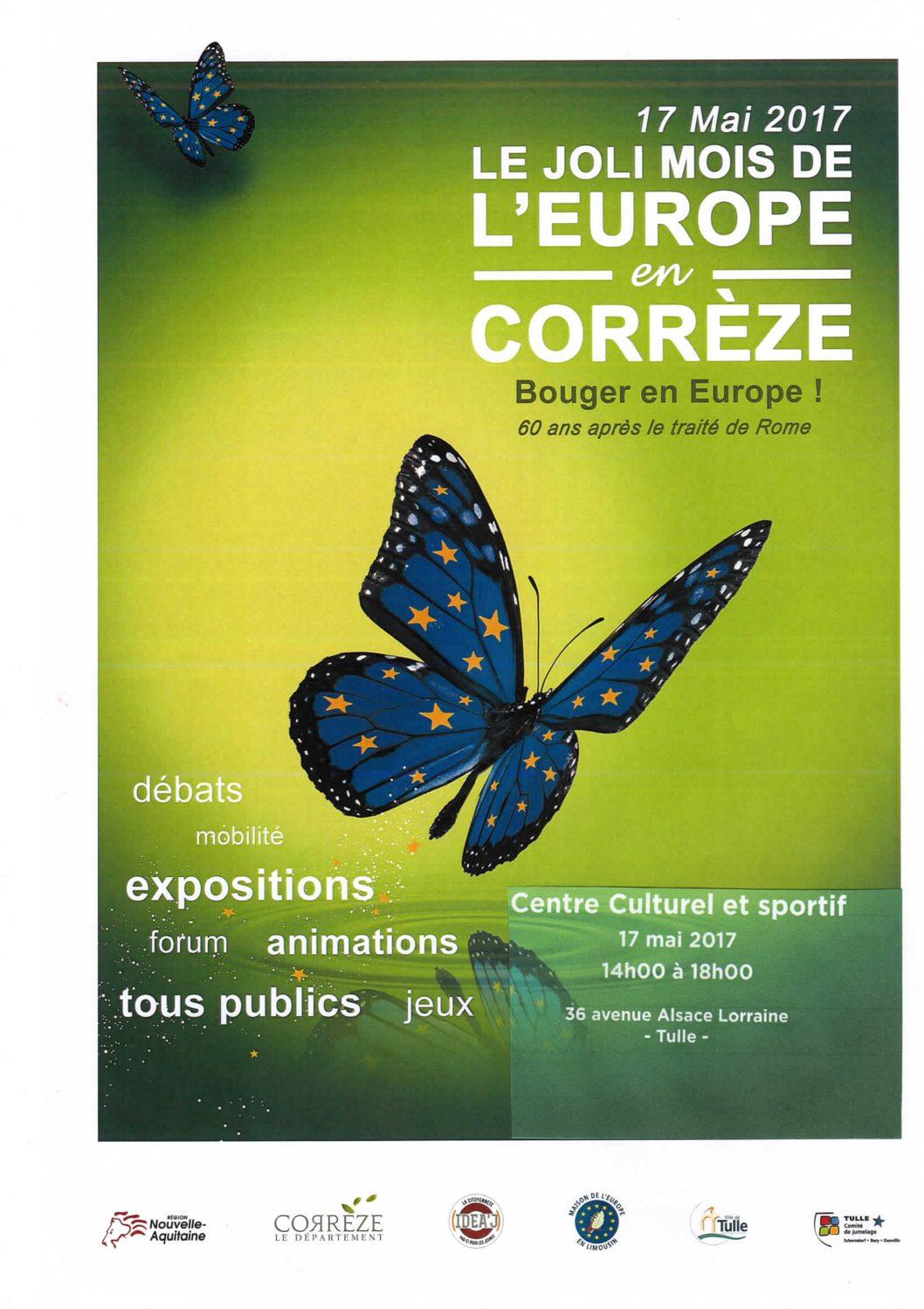 Fête de l'Europe à Tulle, rendez-vous le 17 mai