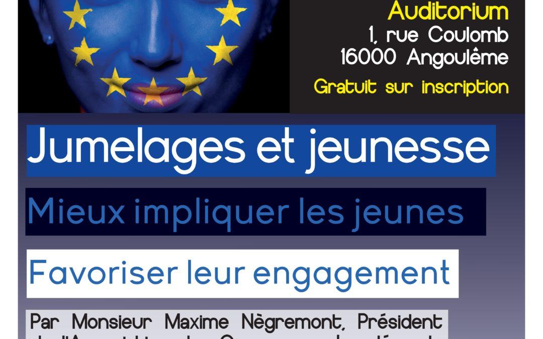 Conférence « Jumelages et jeunesse : mieux impliquer les jeunes, favoriser leur engagement » animée par l'ACJL