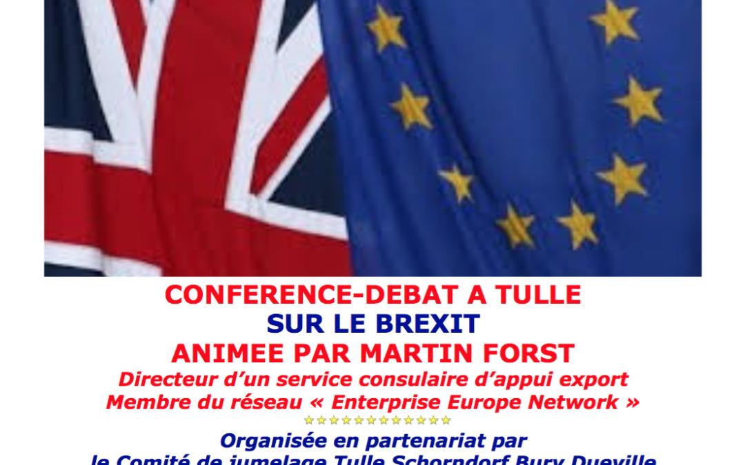 Conférence-débat sur le Brexit à Tulle le 15 septembre