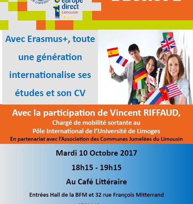 Café de l'Europe : « Avec Erasmus+, toute une génération internationalise ses études et son CV »