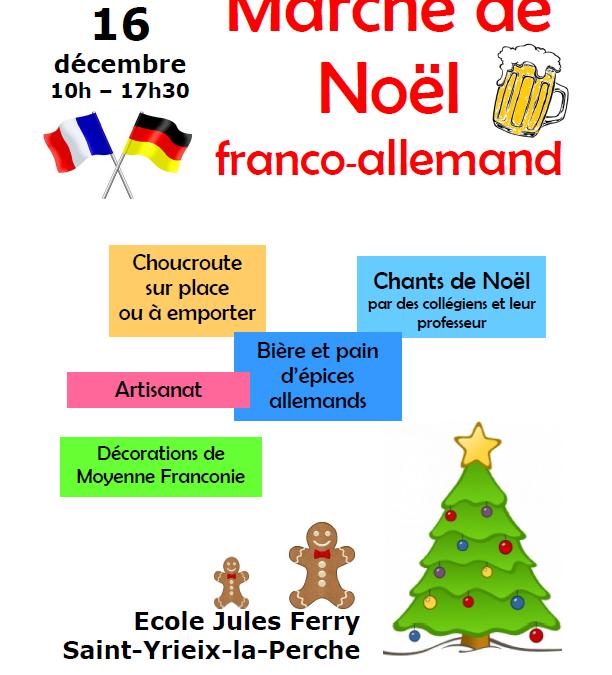 Marché de Noël à Saint-Yrieix-la-Perche le 16 décembre