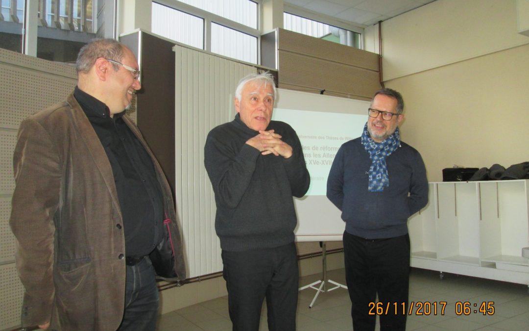Conférence sur « La réforme protestante dans les Allemagnes du XVIème au XVIIIème siècle »
