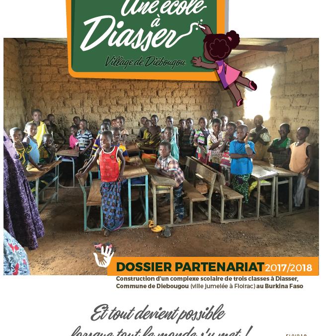 «Une école à Diasser» – Action 2018 du jumelage de Floirac (33)