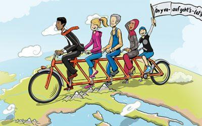 Concours d'idées pour citoyens européens : On y va – auf geht's – let's go!