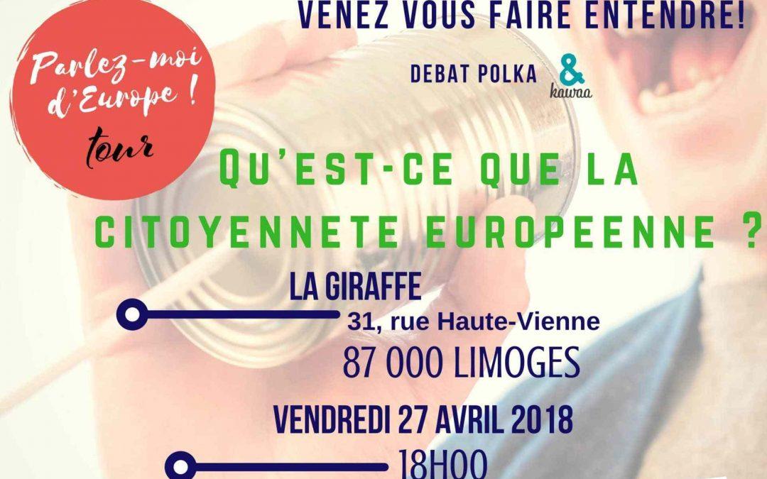 « Parlez-moi d'Europe Tour » fait étape à Limoges ! – 27 avril 2018