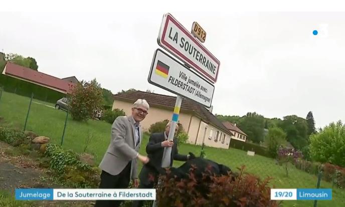 Le jumelage La Souterraine – Filderstadt à l'honneur sur France 3 Limousin