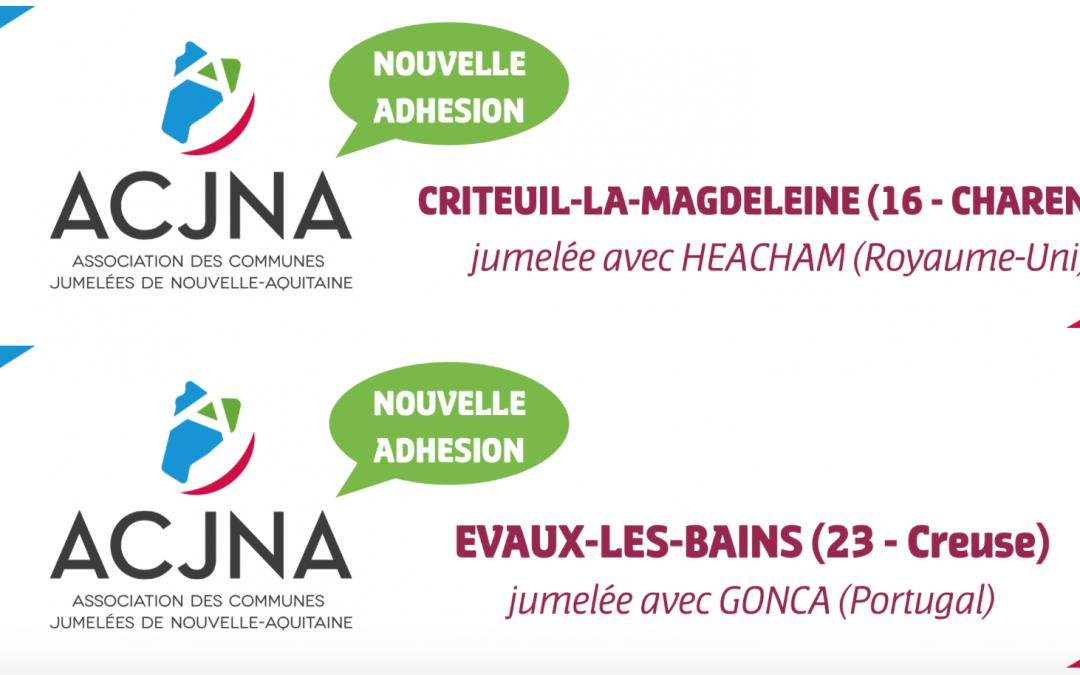 Bienvenue aux communes de Criteuil-la-Magdeleine (16) et Evaux-les-Bains (23)