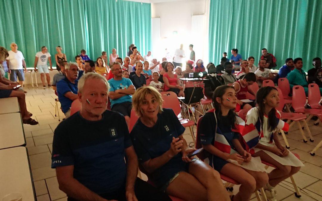 Finale de la coupe du monde France-Croatie un peu spéciale à Aixe-sur-Vienne (87)