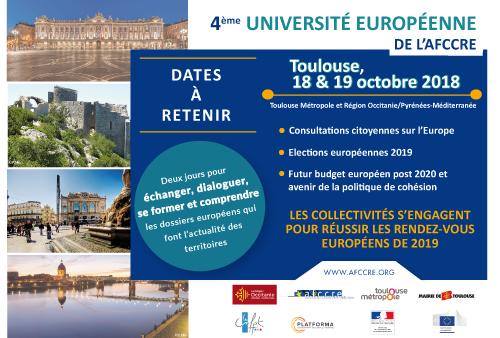 4ème Université européenne de l'AFCCRE : les collectivités s'engagent pour réussir les échéances de 2019
