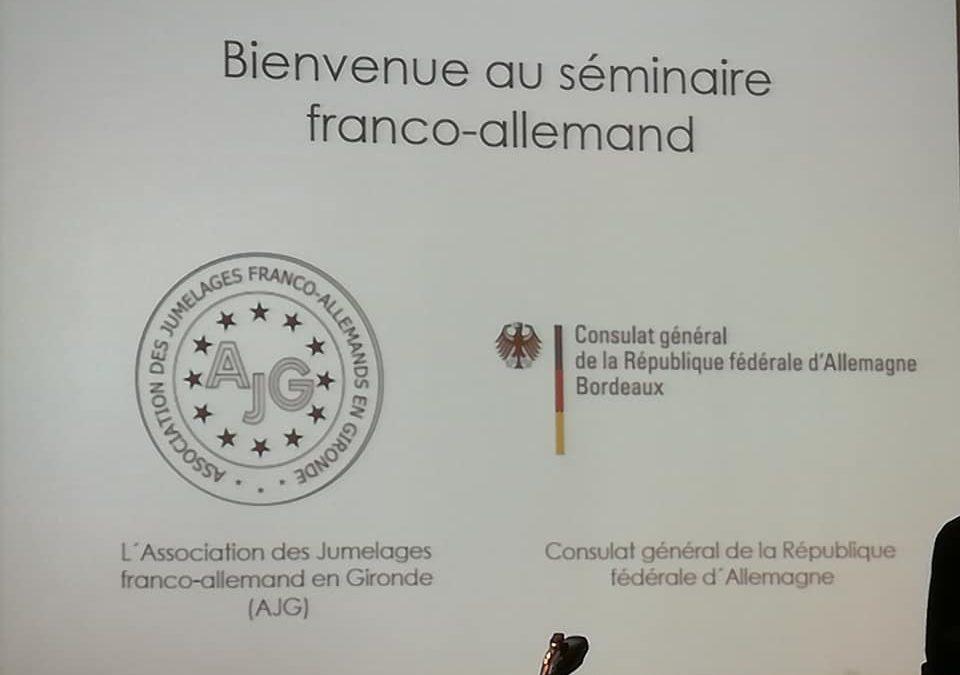 L'ACJNA présente au séminaire franco-allemand en Gironde