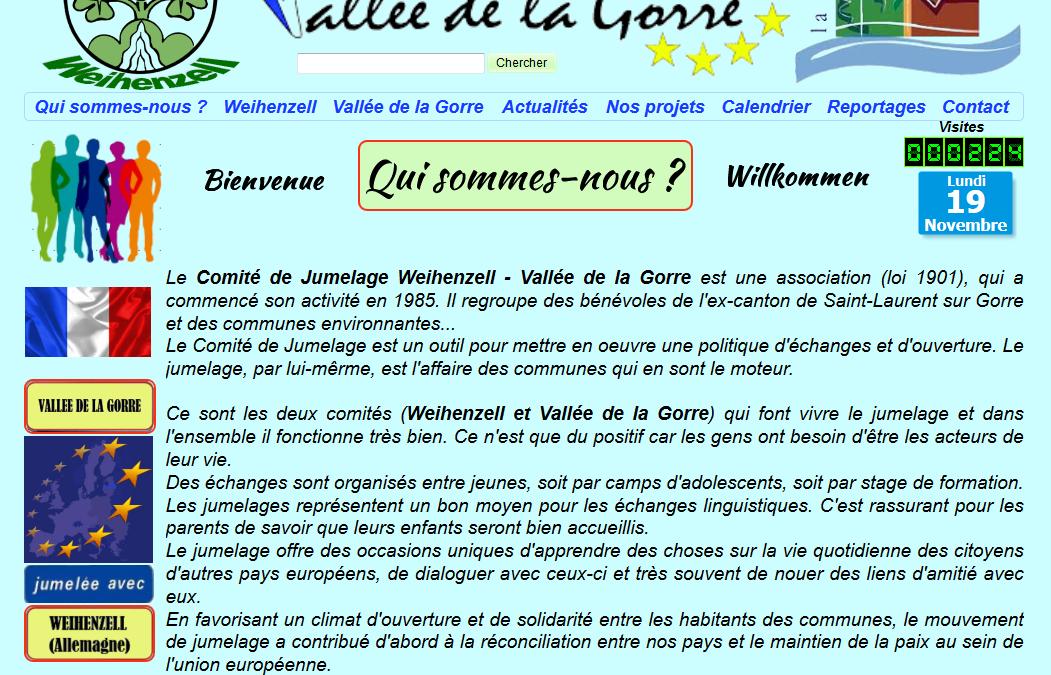 Le comité de jumelage Vallée de la Gorre a son site Internet