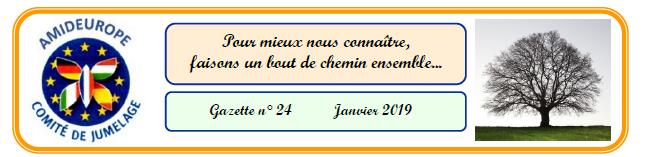 Gazette n°24 du Comité de jumelage Amideurope