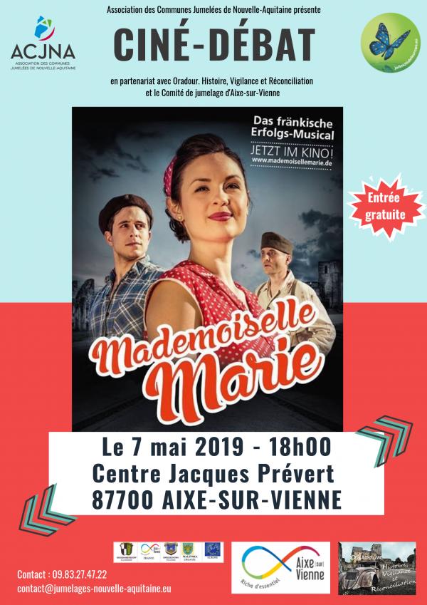 """Ciné-débat """"Mademoiselle Marie"""" le 7 mai à Aixe-sur-Vienne"""