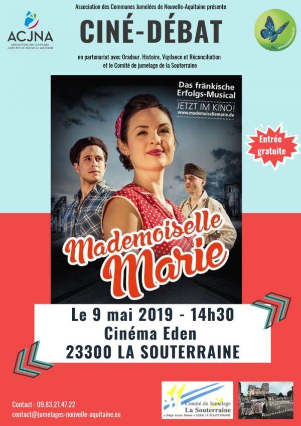 """Ciné-débat """"Mademoiselle Marie"""" le 9 mai à La Souterraine"""