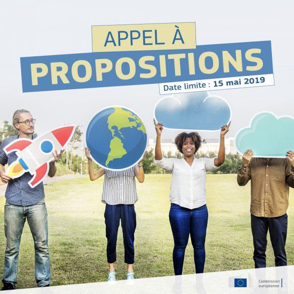 Lancement appel à propositions Actions et événements en France sur l'Union européenne - Date limite 15/05/2019