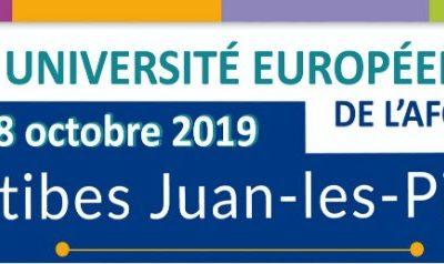 5ème Université européenne de l'AFCCRE à Antibes Juan-les-Pins, les 17 et 18 octobre 2019 : « Les collectivités territoriales dans le nouveau paysage européen»