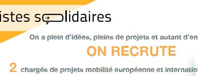 [Pistes Solidaires] recrute 2 chargés de projets mobilité européenne et internationale des jeunes