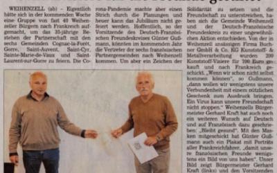 Weihenzell solidaire avec ses jumelles de la Vallée de la Gorre