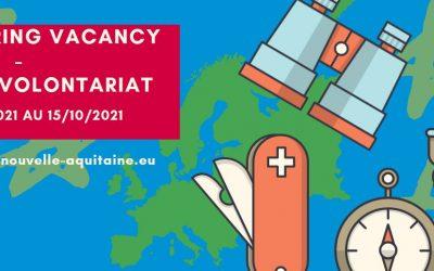 Offre de volontariat CES à partir du 12 avril 2021 (7 mois) – ACJNA