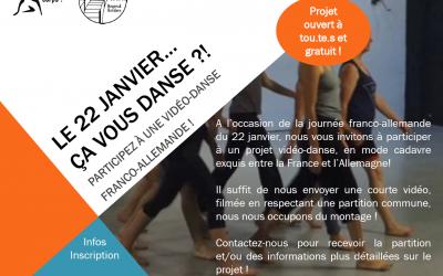 Appel à participation vidéo danse franco-allemande : «Parlez-vous corps ?»