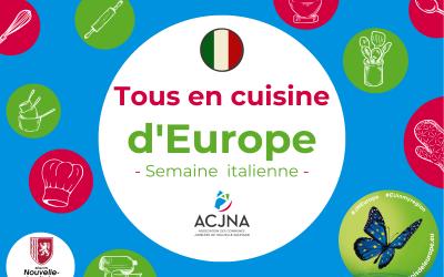 Joli mois de l'Europe 2021 – Semaine italienne – Partage de la recette du cours de cuisine