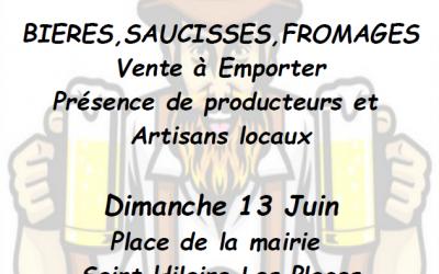 Marché bavarois à St-Hilaire-les-Places le 13 juin 2021