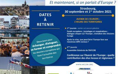 Et maintenant, si on parlait d'Europe ? – 7ème Université européenne de l'AFCCRE à Strasbourg, les 30 septembre et 1er octobre 2021