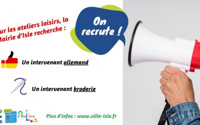 Recherche intervenant Allemand – Commune d'Isle (87170)