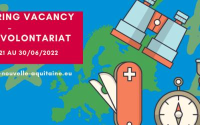 Offre de volontariat CES à partir du 1er novembre 2021 (8 mois) – ACJNA